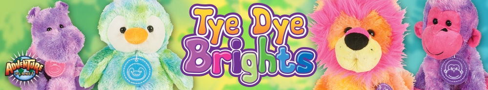 Tye Dye Brights plush exclusively from RI Novelty