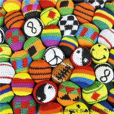 "48 PC 2"" KNIT FOOTBAG ASSORTMENT"